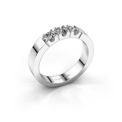 Verlovingsring Dana 3 585 witgoud lab-grown diamant 0.450 crt