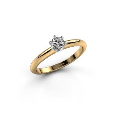 Foto van Verlovingsring Tiffy 1 585 goud diamant 0.25 crt