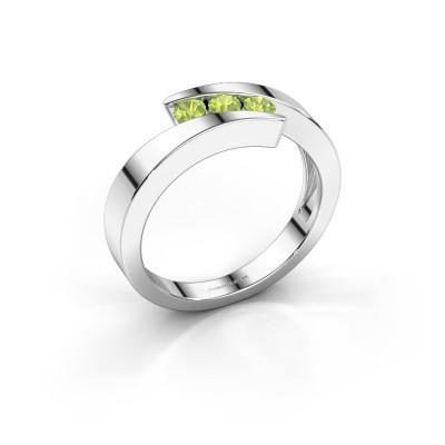 Foto van Ring Gracia 950 platina peridoot 2.7 mm