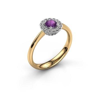 Verlovingsring Debi 585 goud amethist 4.2 mm