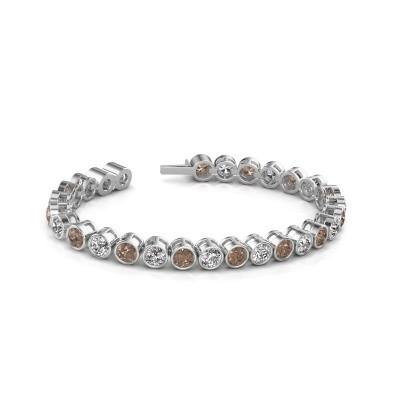 Foto van Tennisarmband Mandi 585 witgoud bruine diamant 14.00 crt
