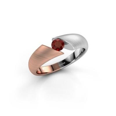 Foto van Verlovingsring Hojalien 1 585 rosé goud granaat 4 mm