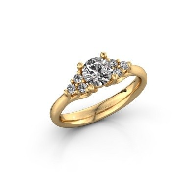 Foto van Verlovingsring Monika RND 375 goud lab-grown diamant 0.75 crt