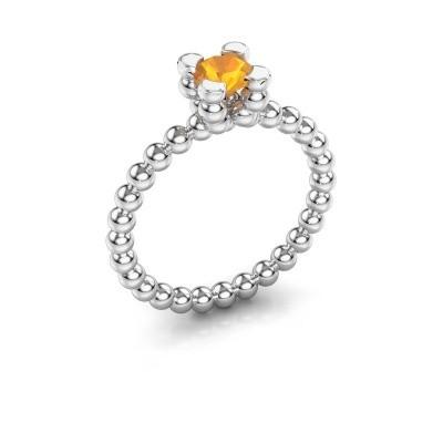 Ring Aurore 925 zilver citrien 5 mm
