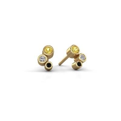 Oorstekers Marlys 375 goud gele saffier 2.5 mm
