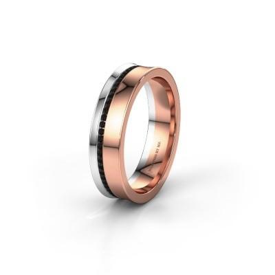 Ehering WH6090L55A 585 Roségold Schwarz Diamant ±5x1.7 mm