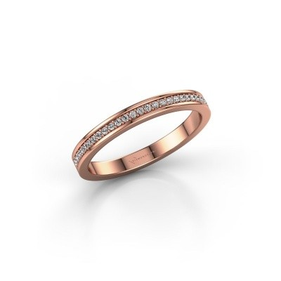 Stackable ring SRH0030B20H2 375 rose gold lab grown diamond 0.135 crt