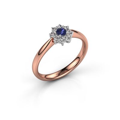 Picture of Engagement ring Carolyn 1 585 rose gold sapphire 3 mm
