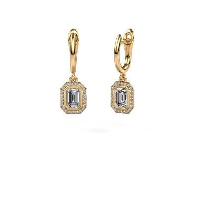 Picture of Drop earrings Noud EME 375 gold zirconia 6x4 mm