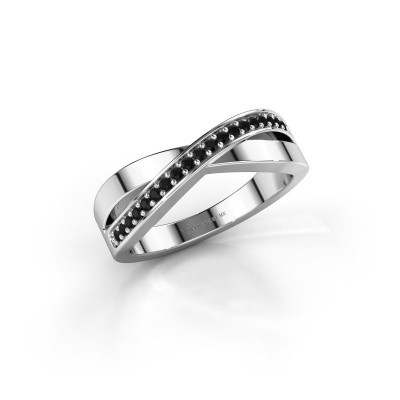 Foto van Ring Kaley 950 platina zwarte diamant 0.17 crt