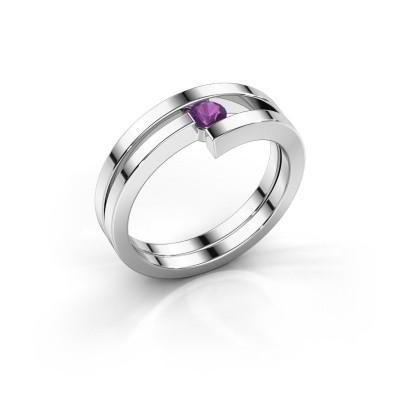 Ring Nikia 925 zilver amethist 3.4 mm