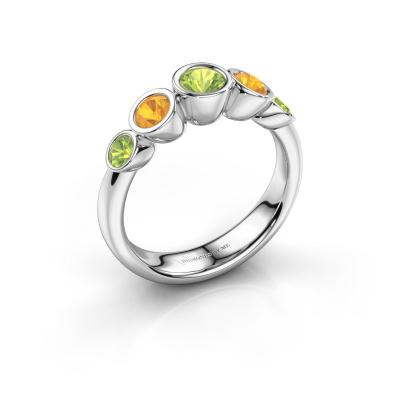 Ring Lizz 585 white gold peridot 4 mm