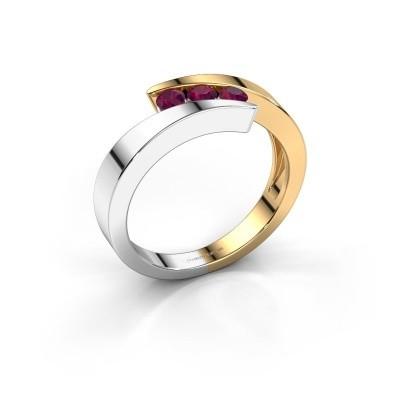 Foto van Ring Gracia 585 goud rhodoliet 2.7 mm