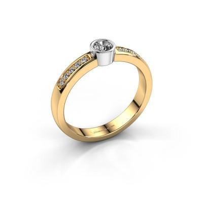 Foto van Aanzoeksring Ise 2 585 goud diamant 0.275 crt