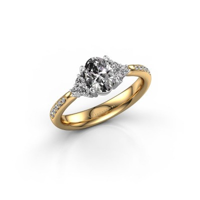 Picture of Engagement ring Aleida OVL 2 585 gold zirconia 7x5 mm
