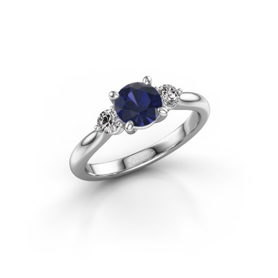 Picture of Engagement ring Lieselot RND 585 white gold sapphire 6.5 mm