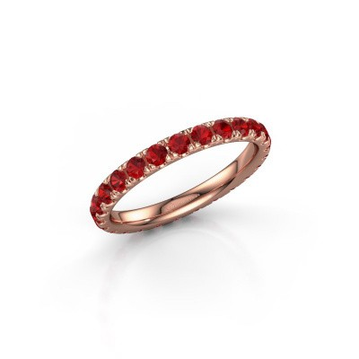 Foto van Ring Jackie 2.3 375 rosé goud robijn 2.3 mm