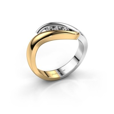 Foto van Ring Ilene 585 goud diamant 0.145 crt