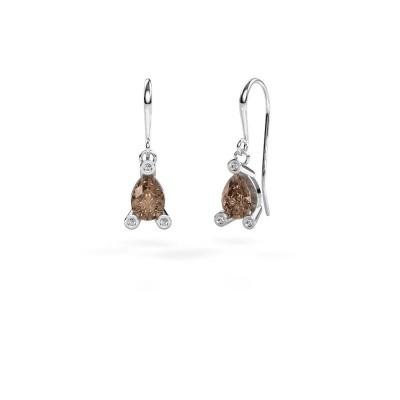 Oorhangers Bunny 1 950 platina bruine diamant 1.345 crt