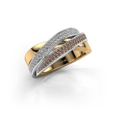 Ring Myra 585 goud bruine diamant 0.50 crt