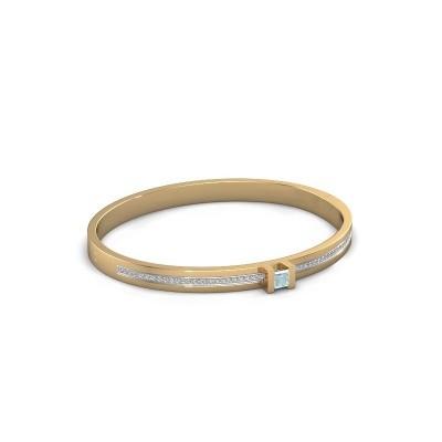 Armband Desire 585 goud aquamarijn 4 mm