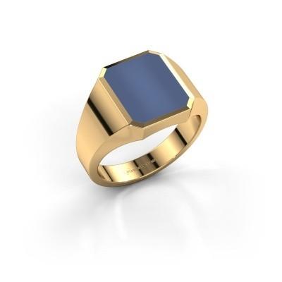 Foto van Zegelring Lars 2 375 goud blauw lagensteen 12x10 mm