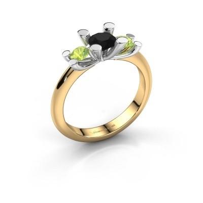 Bague Mirthe 585 or jaune diamant noir 0.60 crt