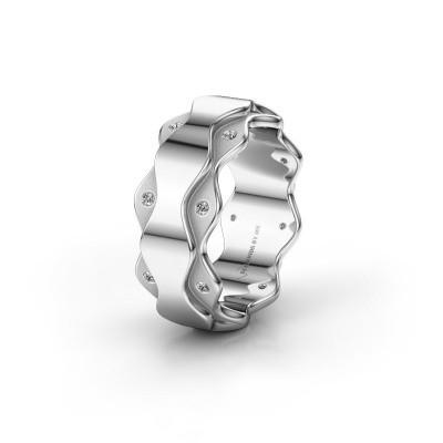 Trouwring WH2033L 950 platina diamant ±7x2.4 mm