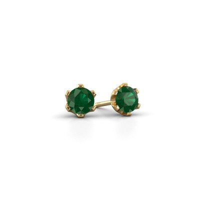 Picture of Stud earrings Fran 375 gold emerald 4.7 mm