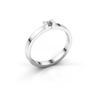 Verlovingsring Lieve 1 585 witgoud diamant 0.03 crt