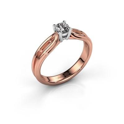 Verlovingsring Antonia 1 585 rosé goud lab-grown diamant 0.25 crt