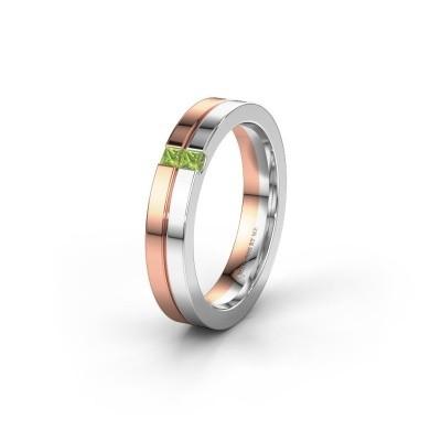 Wedding ring WH0225L14B 585 rose gold peridot ±0.16x0.08 in
