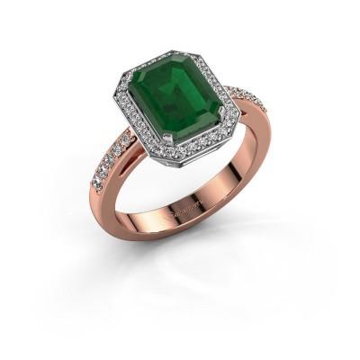Verlobungsring Dodie 2 585 Roségold Smaragd 9x7 mm
