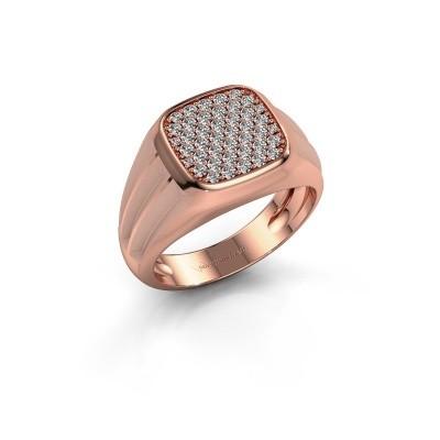 Foto van Pinkring Robbert 585 rosé goud diamant 0.558 crt