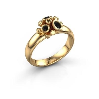 Ring Pameila 585 goud zwarte diamant 0.228 crt