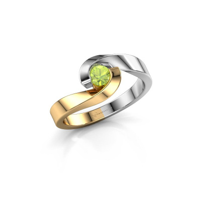 Picture of Engagement ring Sheryl 585 gold peridot 3.7 mm