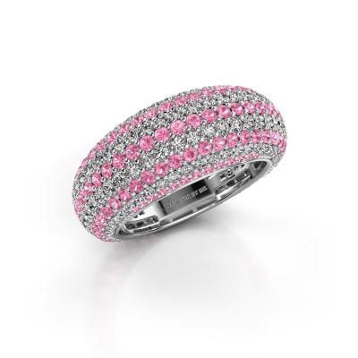 Bild von Ring Lyndia 585 Weißgold Pink Saphir 0.8 mm