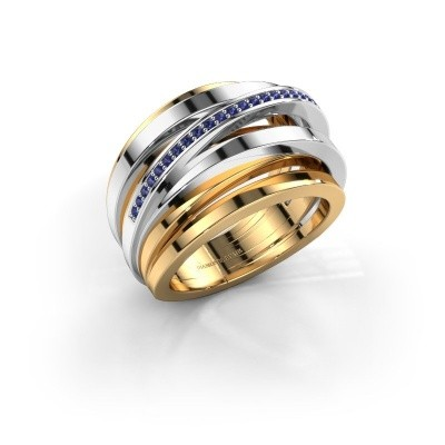 Ring Swinda 585 goud saffier 1 mm