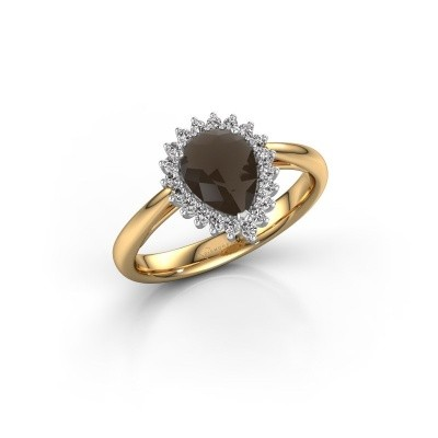 Engagement ring Tilly per 1 585 gold smokey quartz 8x6 mm