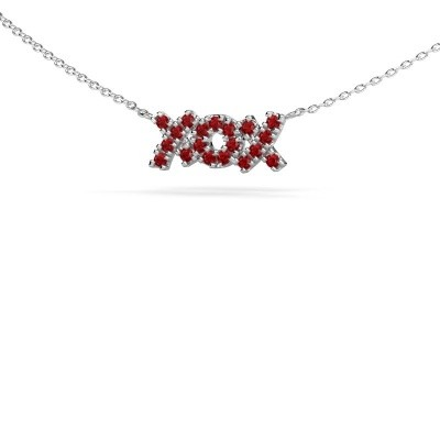 Foto van Ketting XoX 925 zilver robijn 1.5 mm