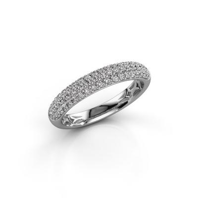 Photo de Bague Emely 2 585 or blanc diamant synthétique 0.557 crt