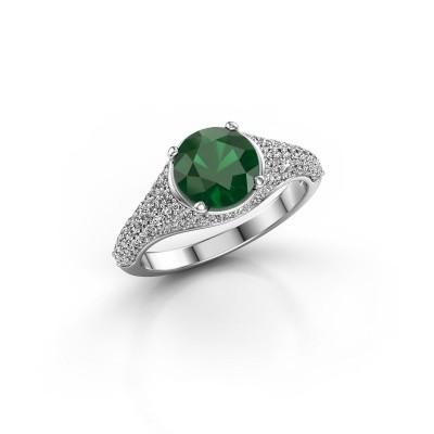 Foto van Ring Lovella 925 zilver smaragd 7 mm