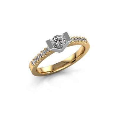 Verlovingsring Sherley 2 585 goud lab-grown diamant 0.43 crt