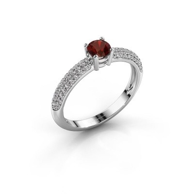 Picture of Engagement ring Marjan 950 platinum garnet 4.2 mm