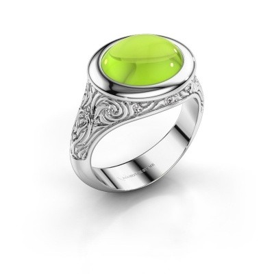 Picture of Ring Natacha 750 white gold peridot 12x10 mm