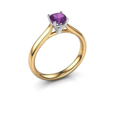 Verlovingsring Mignon cus 1 585 goud amethist 5 mm