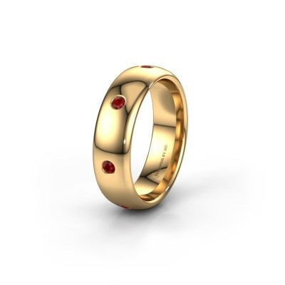 Wedding ring WH0105L36BP 375 gold ruby ±0.24x0.08 in