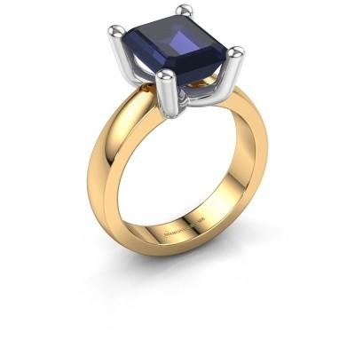 Ring Clelia EME 585 goud saffier 10x8 mm
