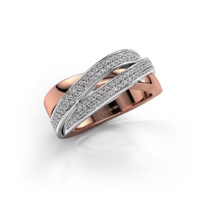 Foto van Ring Myra 585 rosé goud diamant 0.50 crt