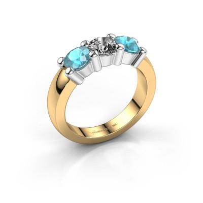 Foto van Verlovings ring Yasmin 3 585 goud diamant 0.50 crt